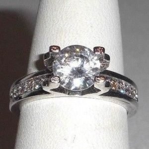 Jewelry - 925 Sterling Silver CZ Engagement Promise Ring